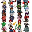 24pcs Neon Genesis Evangelion EVA Minifigures Compatible Lego Toy Comic sets