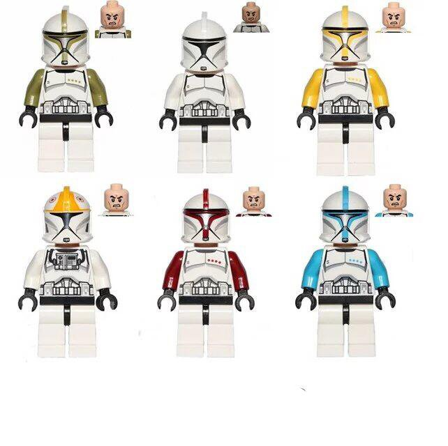 Star Wars Clone Trooper corps Minifigures Compatible Lego Star Wars Sets