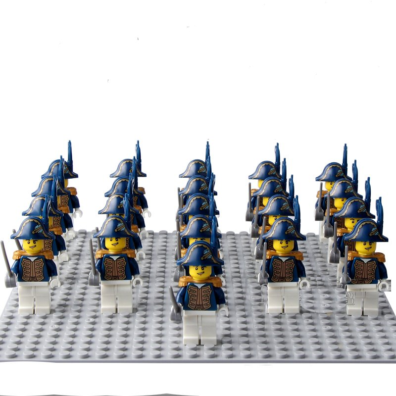 21pcs Britain Royal Navy Minifigures Compatible Lego Pirates of the Caribbean Toy