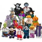 16pcs Vampire Witch Pumpkin Zombie Minifigures Compatible Lego Minifigures Toy