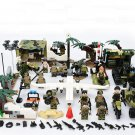 Jungle Military Base Soldiers Minifigures Compatible Lego WW2 Soldiers