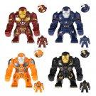 4pcs Hulkbuster Minifigures Compatible Lego Toy Super Heroes sets