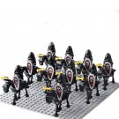 10pcs Human Skeleton Knight Corps Minifigures Compatible Lego Medieval Knights Toy