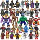 35pcs DC Marvel Blue Beetle Hawkeye Minifigures Compatible Lego Super Heroes sets
