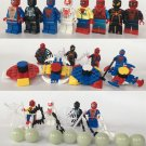 8pcs Spider-Man Minifigures Compatible Lego Spider-Man Homecoming Toy
