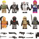 Skull Trooper Wild Card Scorpion Minifigures Compatible Lego Fortnite Toy
