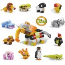 12in1 Elephant dog hippo rabbit building block Toy Compatible Lego Zoo series