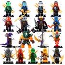 17pcs Ninjago Dogshank Kai Jay Wu Minifigures Compatible Lego Toy Ninjago sets