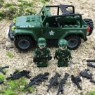 Jeep Soldiers Minifigures Compatible Lego WW2 sets