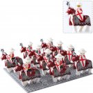 10pcs The Crusaders Knight Minifigures Lego Compatible Medieval Knights