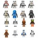 16pcs Star Wars Stormtrooper General Grievous Minifigures Lego Compatible Star Wars sets