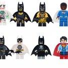 Joker Batman Val-Zod Supergirl Minifigures Lego Compatible Super Heroes sets