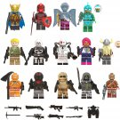 14pcs Red Knight Moisty Merman Bumout Minifigures Lego Compatible Game Fortnite Toy
