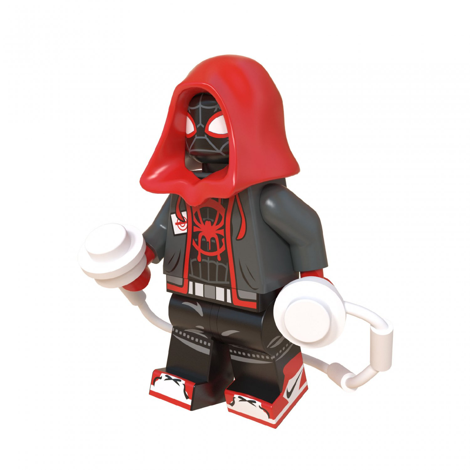 Miles Morales Minifigures Lego Compatible Spider-Man Into the Spider-Verse Toy