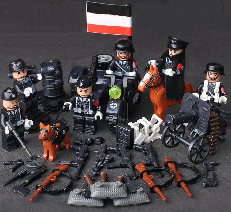 WW2 Germany Soldiers minifigures European battlefield Lego Military Sets Compatible Toys