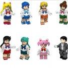 Sailor Moon Mizuno Ami Chibiusa Chiba Mamoru Minifigures Lego Compatible Comic sets
