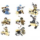 Allied forces in World War II soldiers Minifigures Lego Compatible WW2 Military sets