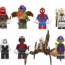 Ultimate Spider-Man Scorpion Green Goblin Minifigures Lego Compatible Into the Spider-Verse