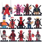 14pcs Deadpool Cosplay movie Character Minifigures Lego Compatible Super Heroes sets