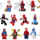 17pcs Spider-Man Iron Man Venom Spider Minifigures Lego Compatible Super Heroes sets