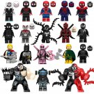 Spider-Man Into the Spider-Verse Deadpool Venom Minifigures Compatible Lego Avengers Toy