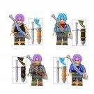 4pcs Torankusu Sword Minifigures Compatible Lego Dragon Ball Z Minifigures
