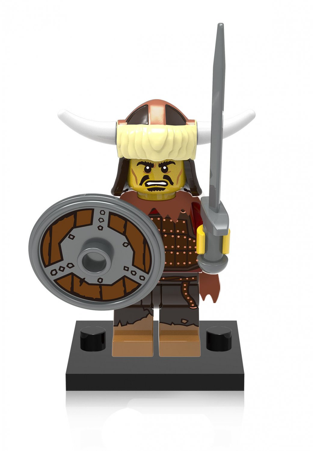 Hun Warrior Minifigures Lego Compatible Medieval Knights Minifigures
