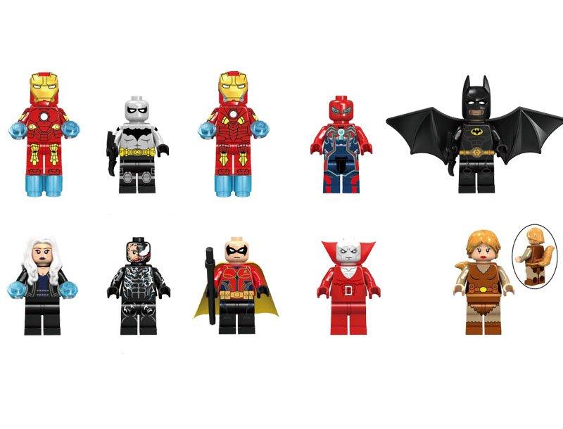 Nightrunner Killer Frost Squirrel Girl Minifigures Lego Compatible super heroes sets