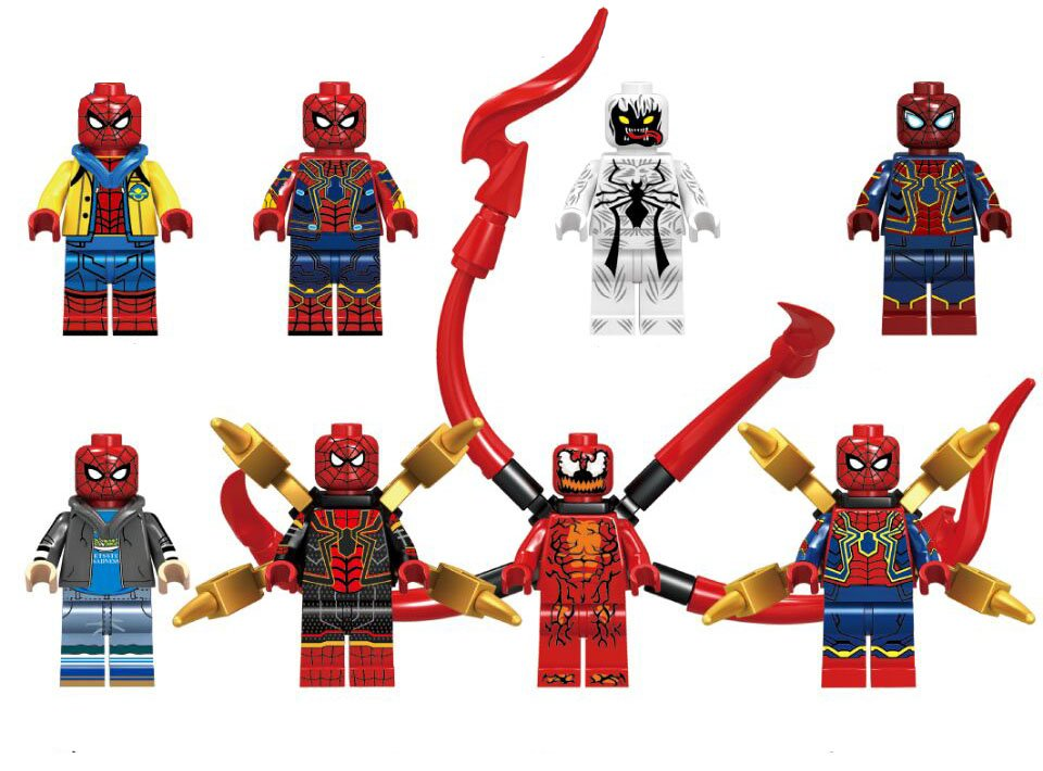 Spider-Man Carnage Anti-Venom Minifigures Lego Compatible Marvel movie Toy