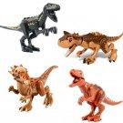 Stygimoloch Carnotaurus Velociraptor building block Compatible Lego Dinosaur Minifigures