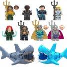Aquaman Nereus Orm Vulko Shark Corps Minifigures Lego Compatible DC movie Toy