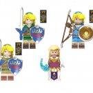 Link Princess Zelda Minifigures Compatible Lego Zelda Game