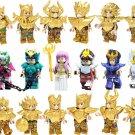 18pcs Gold Saint Seiya Minifigures Compatible Lego Comic Con