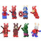 Spider-Ham Ant Ham Iron Ham Deadpool Ham Minifigures Lego Compatible Toy