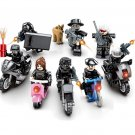 SWAT motorcycle Minifigures Lego Compatible City police series