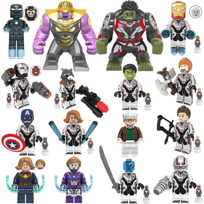 16pcs Marvel Avengers Endgame Super Heroes Quantum Suit Minifigures Lego Compatible Toy