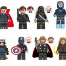 Avengers Endgame Pepper Hawkeye Doctor Strange Captain Marvel Minifigures Lego Compatible Toy