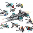 8in1 Avengers S.H.I.E.L.D. Helicarrier Super Heroes Minifigures Lego Compatible Toy