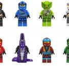 Cole Jay Chokun Nya Lloyd Minifigures Lego Compatible Ninjago sets