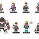 Hulk Rocket Raccoon Black Widow Thor Quantum Suit series Minifigures Lego Compatible Toy