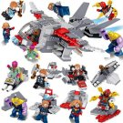 8in1 Avengers Endgame movies Ultimate Quinjet Minifigures Lego Compatible Toy