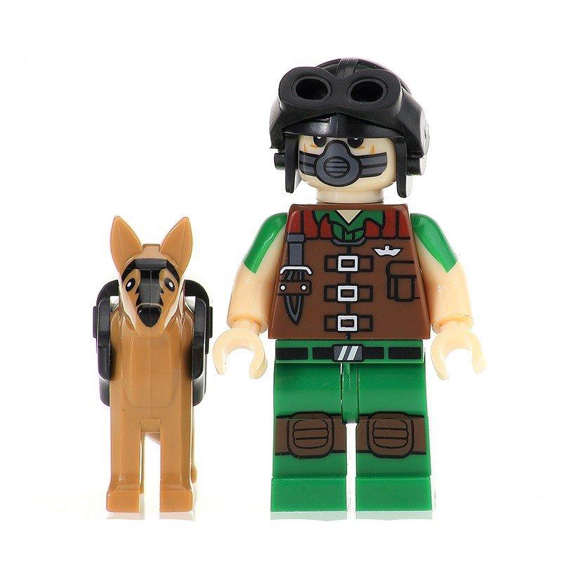Matt with Junkyard Dog Minifigures Lego Compatible G.I. Joe 3 Toy