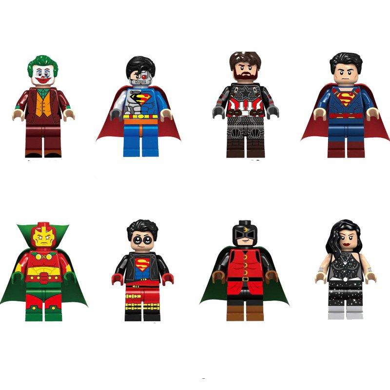 Joker Cyborg Superman Superboy Mr.Miracle Minifigures Lego Compatible Super Heroes set