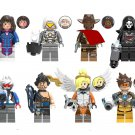 D.va Soldier 76 Mercy Tracer Jesse Mccree Minifigures Lego Compatible Overwatch Toy
