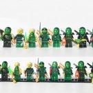 8pcs Green Ninjago Minifigures Lego Compatible Toy