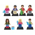 7pcs The Big Bang Theory Minifigures Lego Compatible Toy