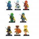 Cole Brown Pyro Snake Gold Pyro Snake Nya Minifigures Lego Compatible Ninjago Toy