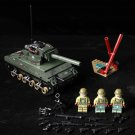 M4 Sherman Tank soldiers Minifigures Lego Compatible WW2 Military Tank