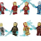 Iron Man MK5 MK6 MK17 MK30 MK39 Minifigures Lego Compatible Toy