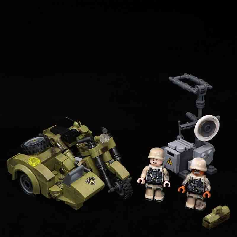 WW2 R75 Motorcycles Minifigures Lego Compatible military Moto